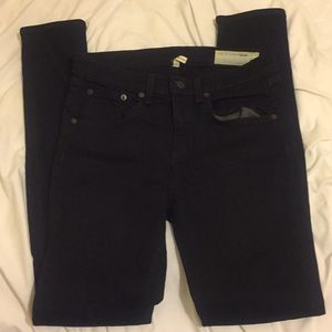 Rag & Bone high rise skinny coal 27